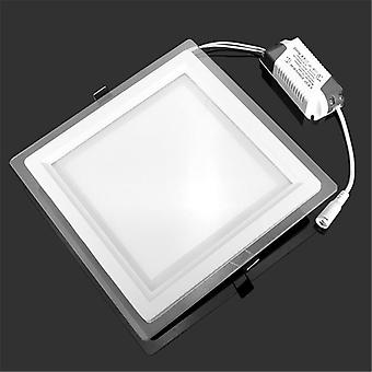 6w 9w 12w 18w dæmpet led panel Downlight Square Glass Cover Lights