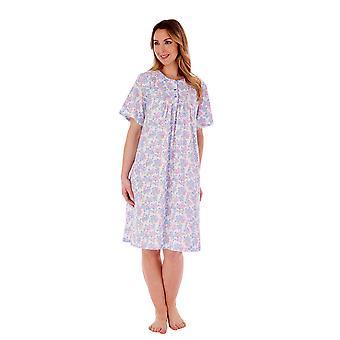 Slenderella ND77130 Women's Floral Cotton Nightdress
