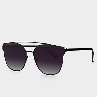 Cateye Oversize Sonnenbrille gespiegelt flache Linsen Straße