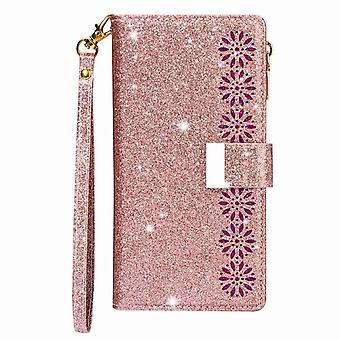 Shiny folio case Magnetic for Samsung Galaxy A21S - Rose gold