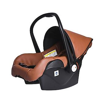 5-in-1 Stroller Luxury Carriage, Two-way Foldable & Four-wheeled, Leather Frame