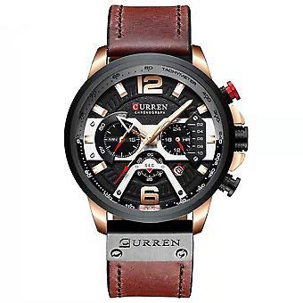 Quartz Watch Business Men Simple Sport Wristwatch Three Sub-Dials Calendar 3ATM Waterproof