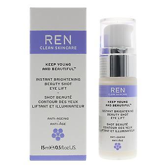 REN Instant Brightening Beauty Shot Eye Lift 15ml Anti-Ageing