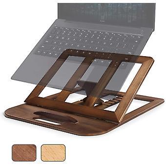 HanFei Laptop Stnder, Verstellbarer Hlzerner Tablet Stnder, Belfteter Computer MacBook Stnder fr