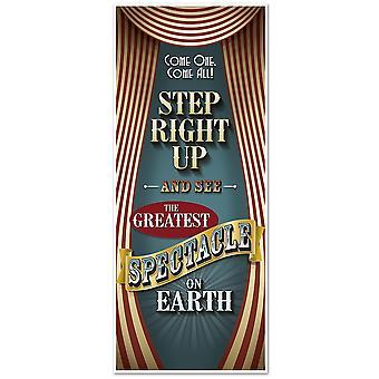 Cirque Vintage deurdecoratie 76 x 182 cm