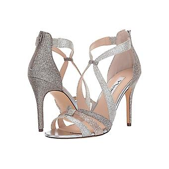 Nina Womens Casey Open Toe Formal Ankle Strap Sandals