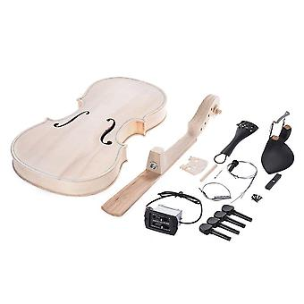 Natural Solid Wood Acoustic Violin Fiddle Kit With Eq Spruce Top Maple Back