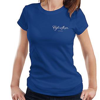 Cafe del Mar Classic White Logo Pocket Print Women's T-Shirt