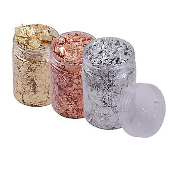 Imitation Gold Foil Flakes, Metallic For Resin Jewelry, Making Nails Art