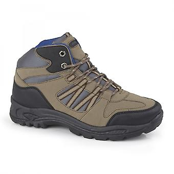 DEK Keswick Mens Lace Up Hiking Boots Taupe