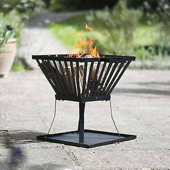 RedFire Brandkurv Denver Black Steel 39×39 cm 85015