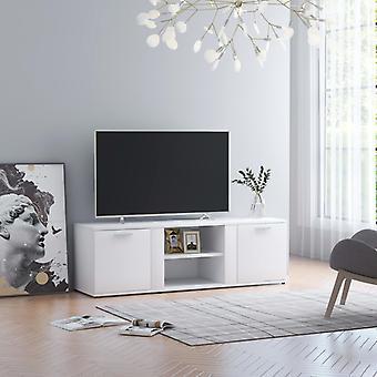 vidaXL armoire tv blanc 120x34x37 cm panneau de particules