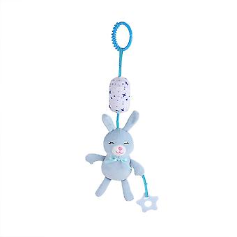 Rabbit Rattle Toys With Chime Plush Baby Hanging Toys Rattling Doll For Infant Blue