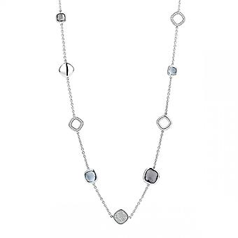 Ti Sento kaulakoru 3930BG - hopea syntetisaattori kiviä. Naisten vihreä sininen