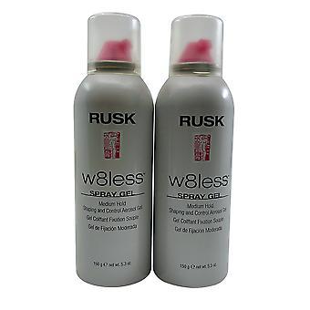 Rusk W8less Spray Gel Medium Hold 5.3 OZ Set of 2