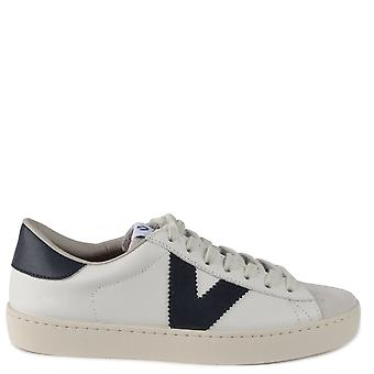 Victoria Shoes Berlin Contrast Leather Trainers Marino