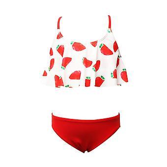 בגד ים חדש של ילדים חמוד תות מפוצל לוטוס עלה בנות