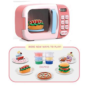 Baby role play electric toy household appliances analog microwave set toy