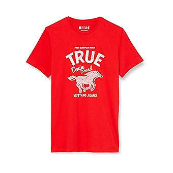 MUSTANG Aaron C Print T-Shirt, Red (Feuerrot 7130), XX-Large Men