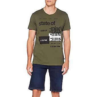 Q/S designed by T-Shirt Kurzarm, Green (7843 Green), M Man