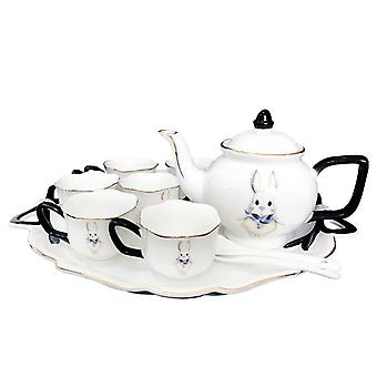 Creative Hand-painted designs High temperature ceramic Afternoon Coffee & tea set with the tray