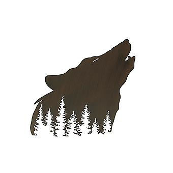 Wolf Laser Cut Metal Wall Art Hanging Forest Room Decor Lodge Decoration