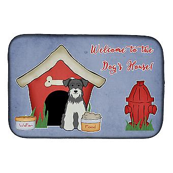 Caroline's Treasures Dog House Collection Stuoia in miniatura schanuzer sale e pepe piatto asciugatura mat, 14 x 21