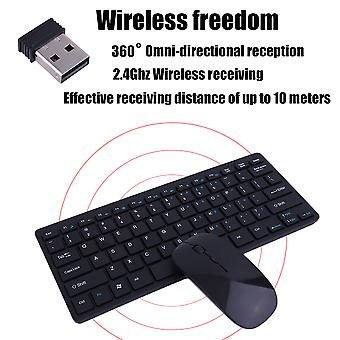 901a Automatic Pairing Usb Wireless 2.4ghz Keyboard Mouse Set Adjustable Dpi