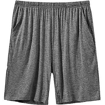 Mens Sleeping Stretch Boxer Shorts Ultra-soft Modal Lounge Pajama Bottoms With Pockets