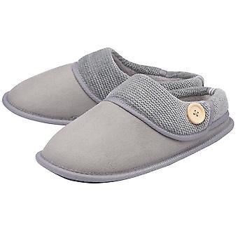 Dunlop - ladies debbie suede-like slippers