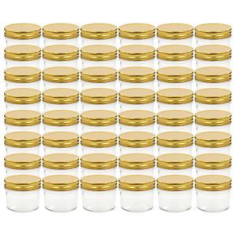 vidaXL jam jars with golden lid 48 pcs. 110 ml