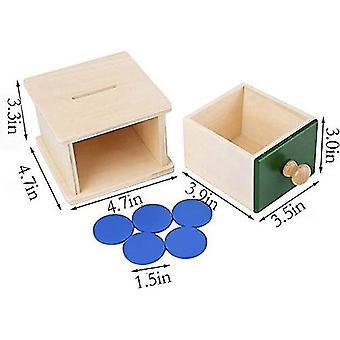 مونتيسوري الرضع عملة مربع مرحلة ما قبل المدرسة تعلم ألعاب مونتيسوري للأطفال الصغار dt6039