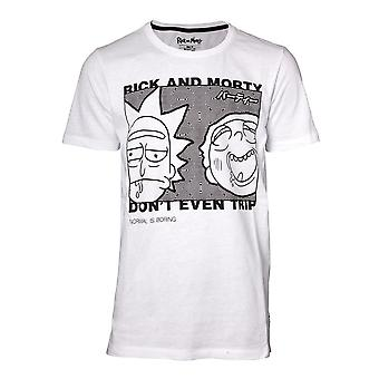 Rick And Morty - Don'T Even Trip Men's Large T-Shirt - White