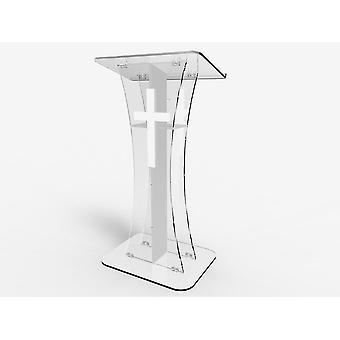 Oprawa wyświetla podium Crystal Clear Ghost Akrylowy Lectrern