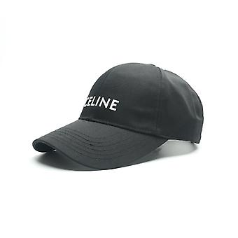 Celine Baseball Cap  With Embroidery In Cotton Black