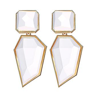 Earrings Exaggerated Geometry Acrylic Alloy Crystal Jewelry For Birthday Gift