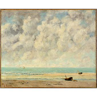 The Calm Sea,gustave Courbet Art Reproduction.realism Style Modern Hd Art Print Poster,canvas Prints Wall Art For Home Decor Pictures (unframed)