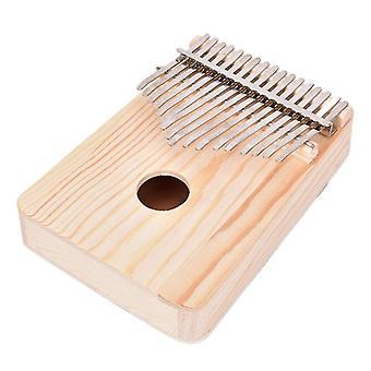 New wood musical instruments 17 key kalimba african solid pine mahogany thumb finger piano