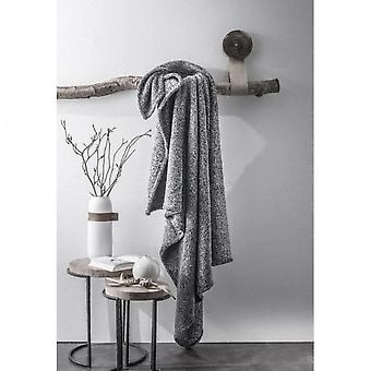 Gray Polyester Furly Plaid