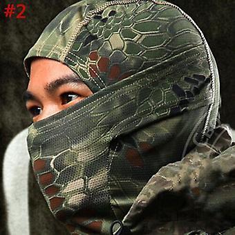 (#2) Taktische Tarnjagd Sturmhaube Maske Armee Militär Vollgesicht Scharfschütze Hut