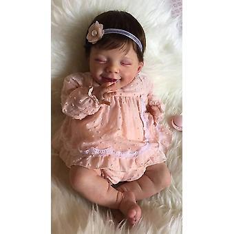 Renace muñeca 52cm renacido muñeca bebé popular dormir abril sonrisa bebé hecho a mano muñeca de alta calidad real toque suave tierno bebé lindo regalo