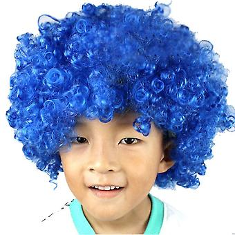 Party Supplies Festive Color Wig Funny Clown(Blue)