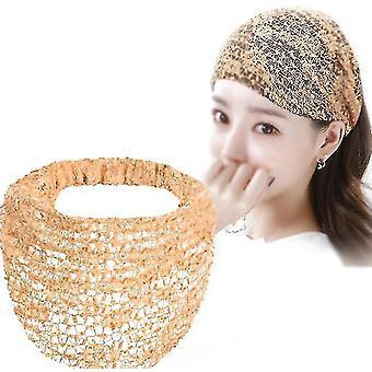 Lace Headband Women's Summer Thin Section Headscarf Covering Shredded Hair Covering Headgear(Khaki)