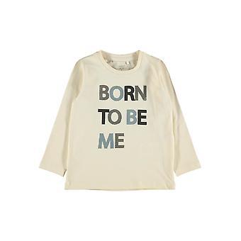 "Nimi-se Pojat Tshirt Neller ""Born To Be Me"" Whitecap Gray"
