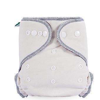 Elinfant Coffee Polar Fleece Fitted Diaper Night Baby Nappy Washable Hemp Cloth