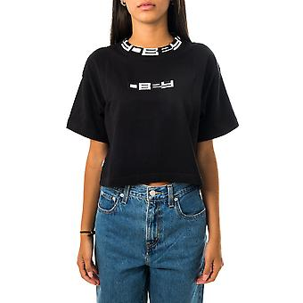T-shirt donna obey terra top s/s 231080128.blk