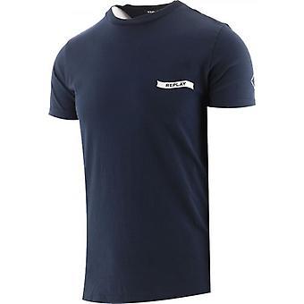 Replay Navy Print Jersey T-Shirt
