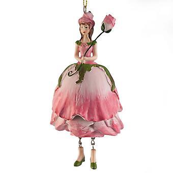 Röd blomma Fairy Girl statyett Strawberry för hängande