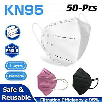 10/20/50 Pack Children Kids Disposable Kn95 Fabric Protective Face Mask