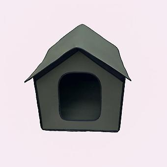 Outdoor Rainproof Pet House Can Be Folded, Suitable For Cats, Rabbits, Small Dogs (green)